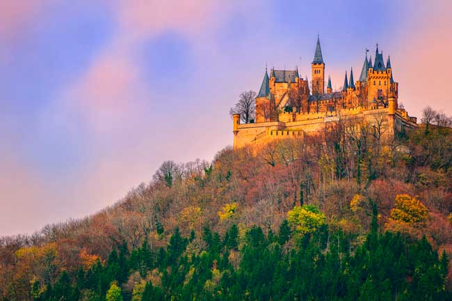 Hohenzollern Castle is one of the must see sights within Baden-Württemberg state.